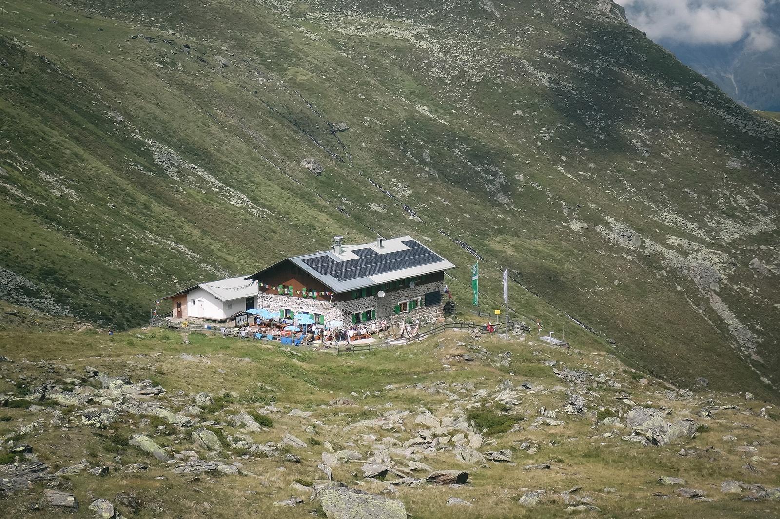 Die Pforzheimer Hütte.