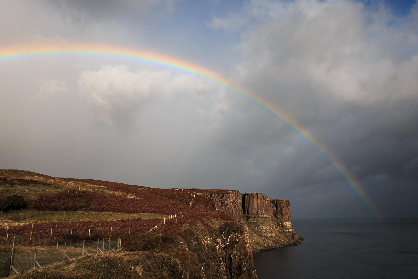 Regenbogen am Kilt Rock