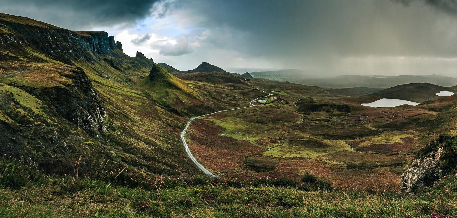 """Panorama am Quiraing – eine Landschaft wie in """"Herr der Ringe"""""""