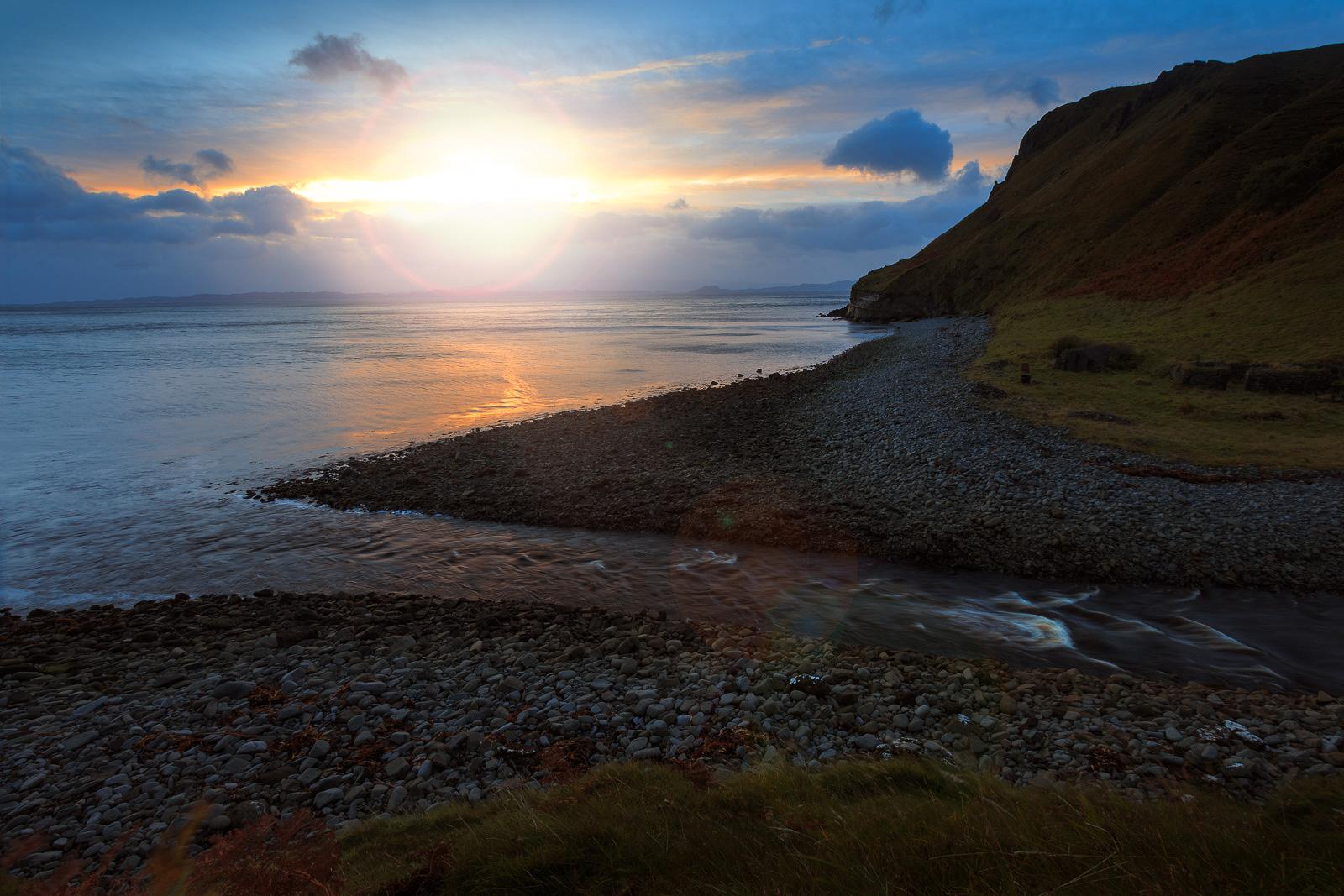 Nur ein paar Wolken verhinderten, dass die Sonne direkt aus dem Meer aufstieg.