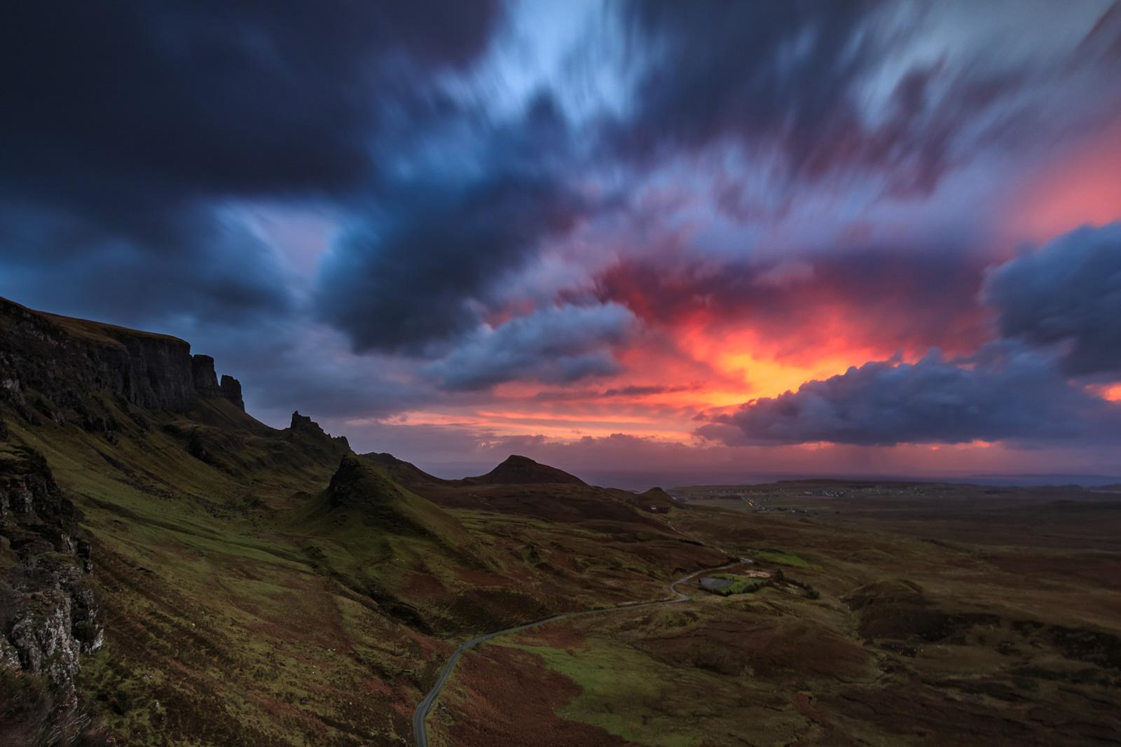 Und der Himmel brennt – Sonnenaufgang am Quiraing