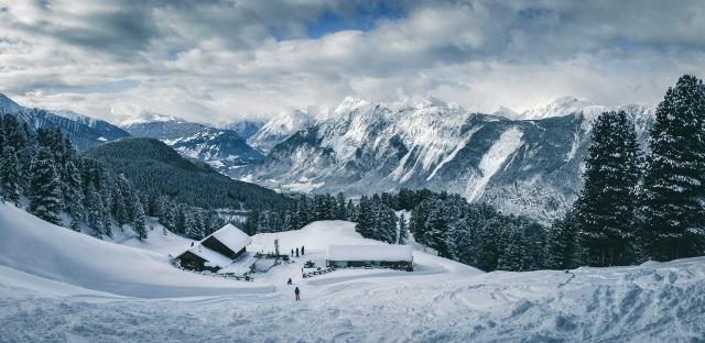 Feldringalm, Tirol, Österreich im Winter