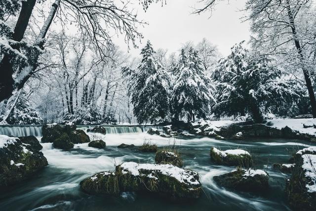 Februar: Englischer Garten, München