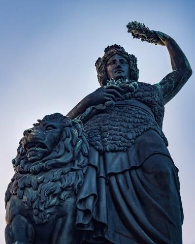 Bavaria, München, Theresienwiese, Bayern, Denkmal