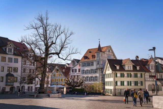 St. Gallen, Schweiz, Stadt, Cityscape