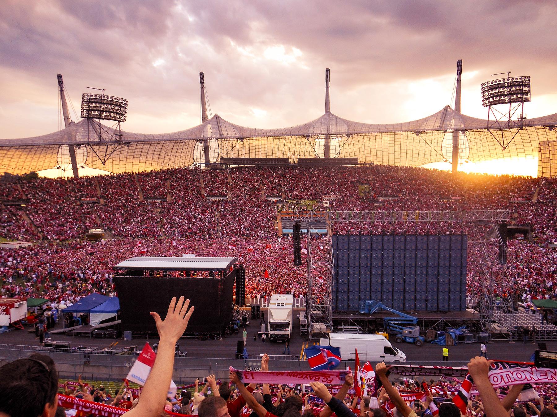 München, Olympiastadion, Finale dahoam, Public Viewing, Champions League Finale, 2012