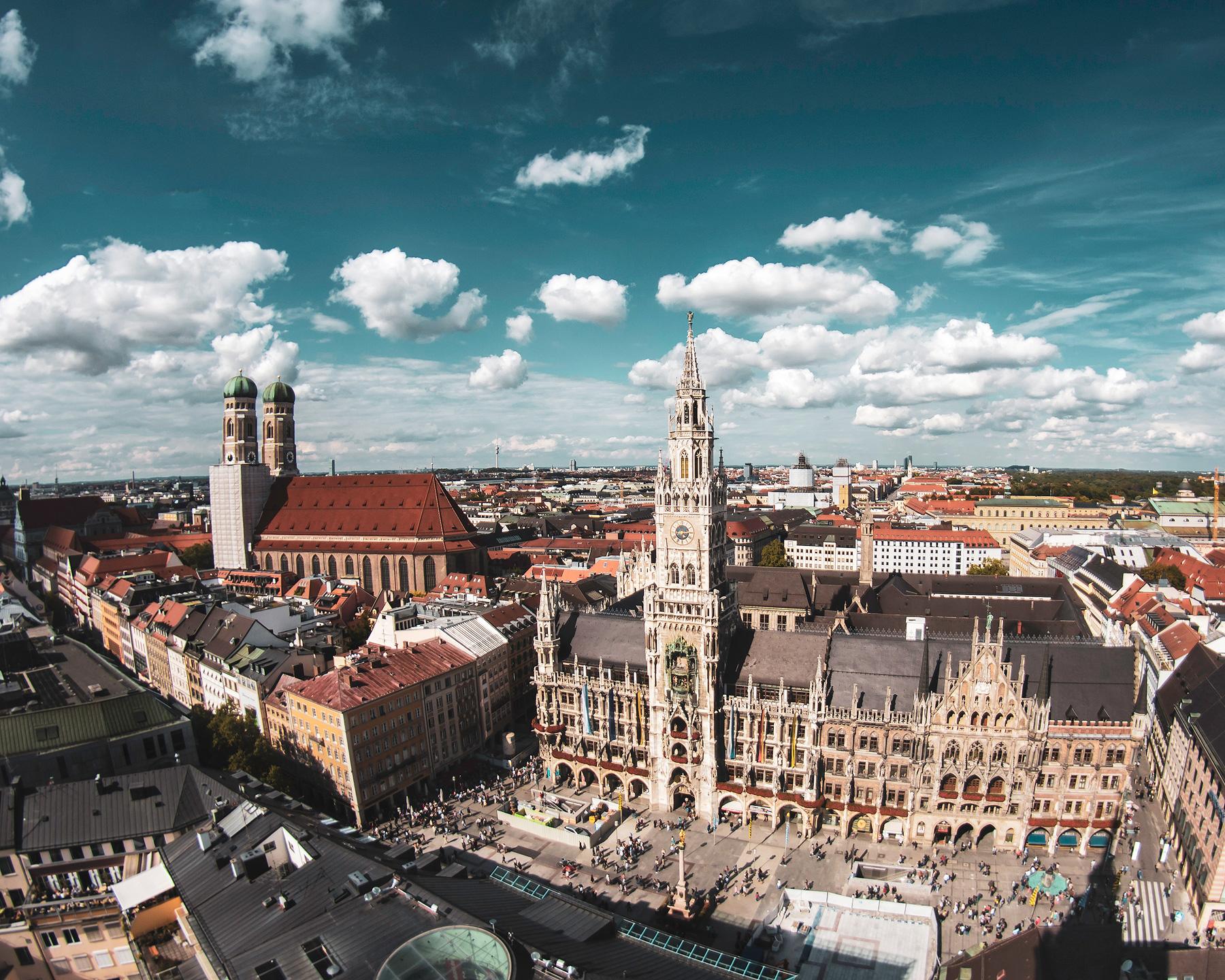 München, Marienplatz. Frauenkirche, Aussicht, Alter Peter