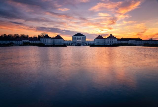 Munich, München, Schloss Nymphenburg, Sonnenuntergang, Bayern, Upper Bavaria