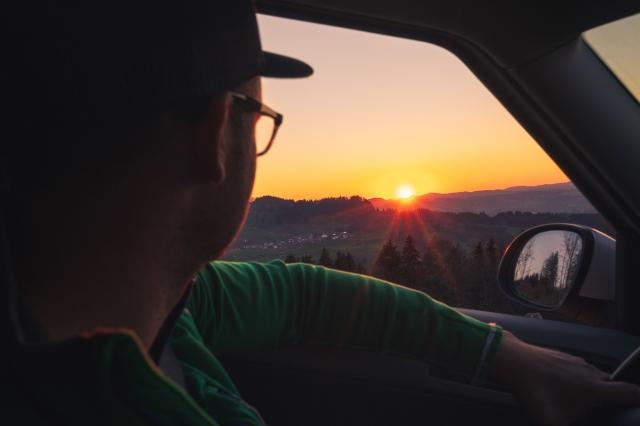 Allgäu, Voegelin Fotografie, Sonnenuntergang, Lukas Voegelin, Auto