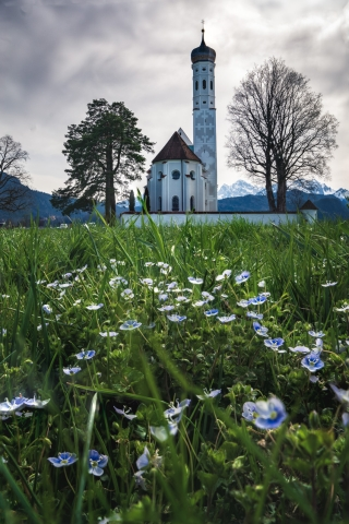 Deutschland, Allgäu, St. Coloman, Füssen, Schwangau, Kirche, Kapelle, Frühling, Alpen