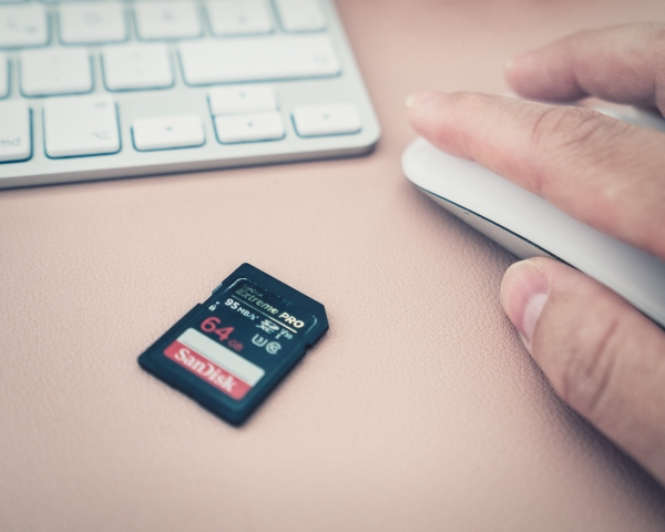 SanDisk, Speicherkarte, Hand, Maus, Apple, Tastatur, Blogger, Computer