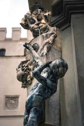 München, Brunnenbuberl, Innenstadt, Gasteigerbrunnen, Neuhauser Straße, Bayern, Brunnen, Deutschland