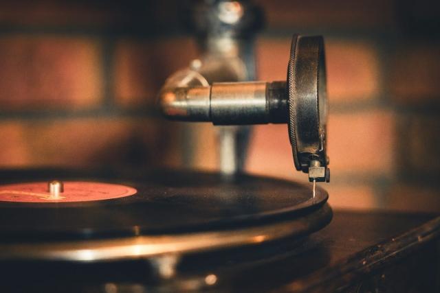 Grammophon, Antik, Vintage, Plattenspieler, Schellack
