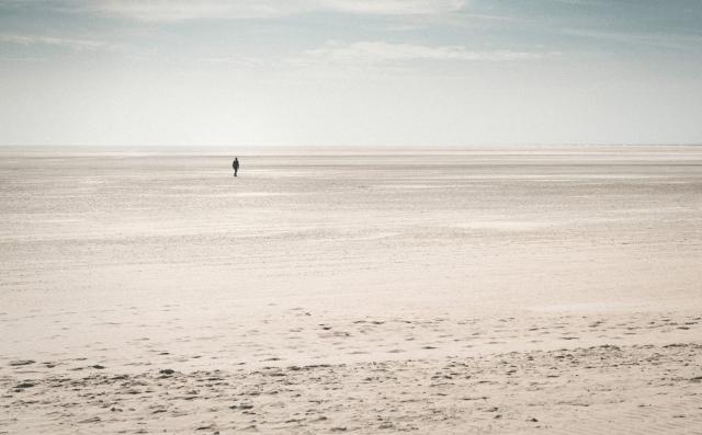 St. Peter-Ording, Strand, Weite, Deutschland, Nordsee, Sand, einsam, Silhouette