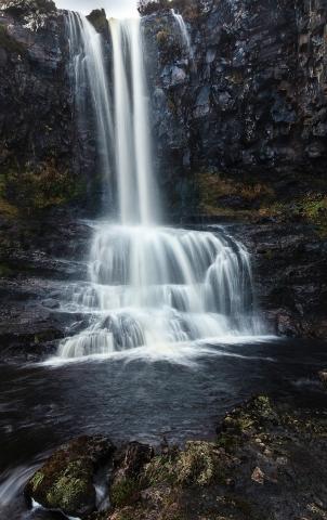 Jaworskyj Fotoreise, Lukas Voegelin, Schottland, Isle of Skye, Wasserfall, Carbost Burn Waterfall