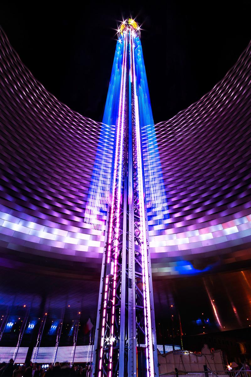 Light Trails, Freefallwower, Basel, Herbstmesse