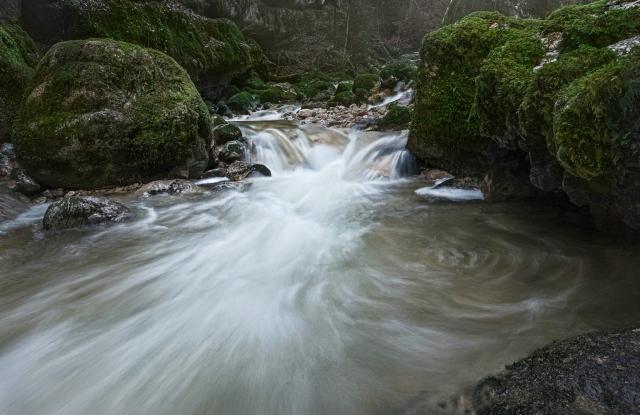 Twannbachschlucht, Jura, Schweiz, Wasserfall