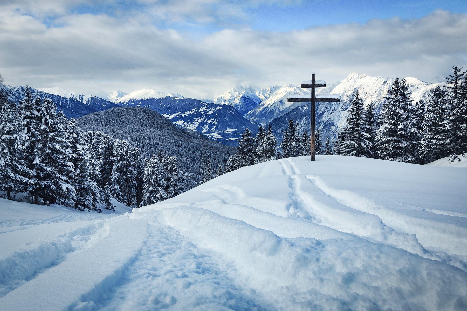 Feldringalm, Österreich, Kreuz, Schnee, Winter