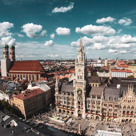 Alter Peter, Kirche Sankt Peter, München, Marienplatz, Rathaus, Frauenkirche