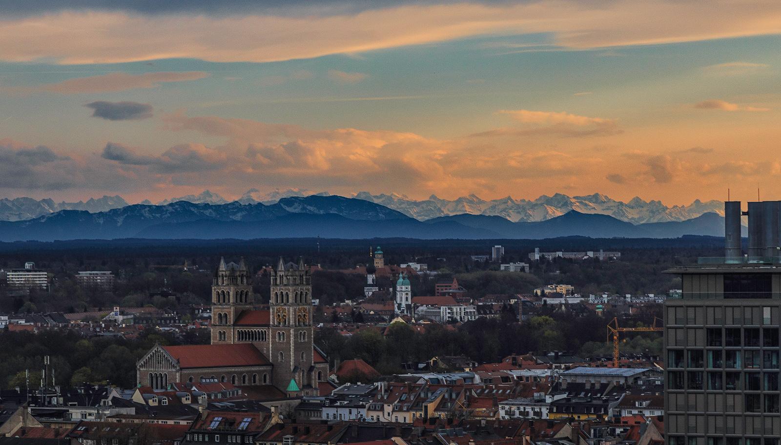 Alpen, Sankt Peter, München, Aussicht, Alter Peter