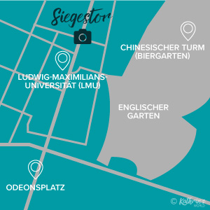 Karte, Fotospot Siegestor München, kathrinsworld, Kathrin#s World, Kathrin Schlott