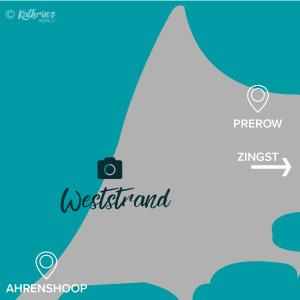 Karte, Ostsee, Fotospot Weststrand, Darß, Zingst, kathrinsworld, Kathrin's World, Kathrin Schlott