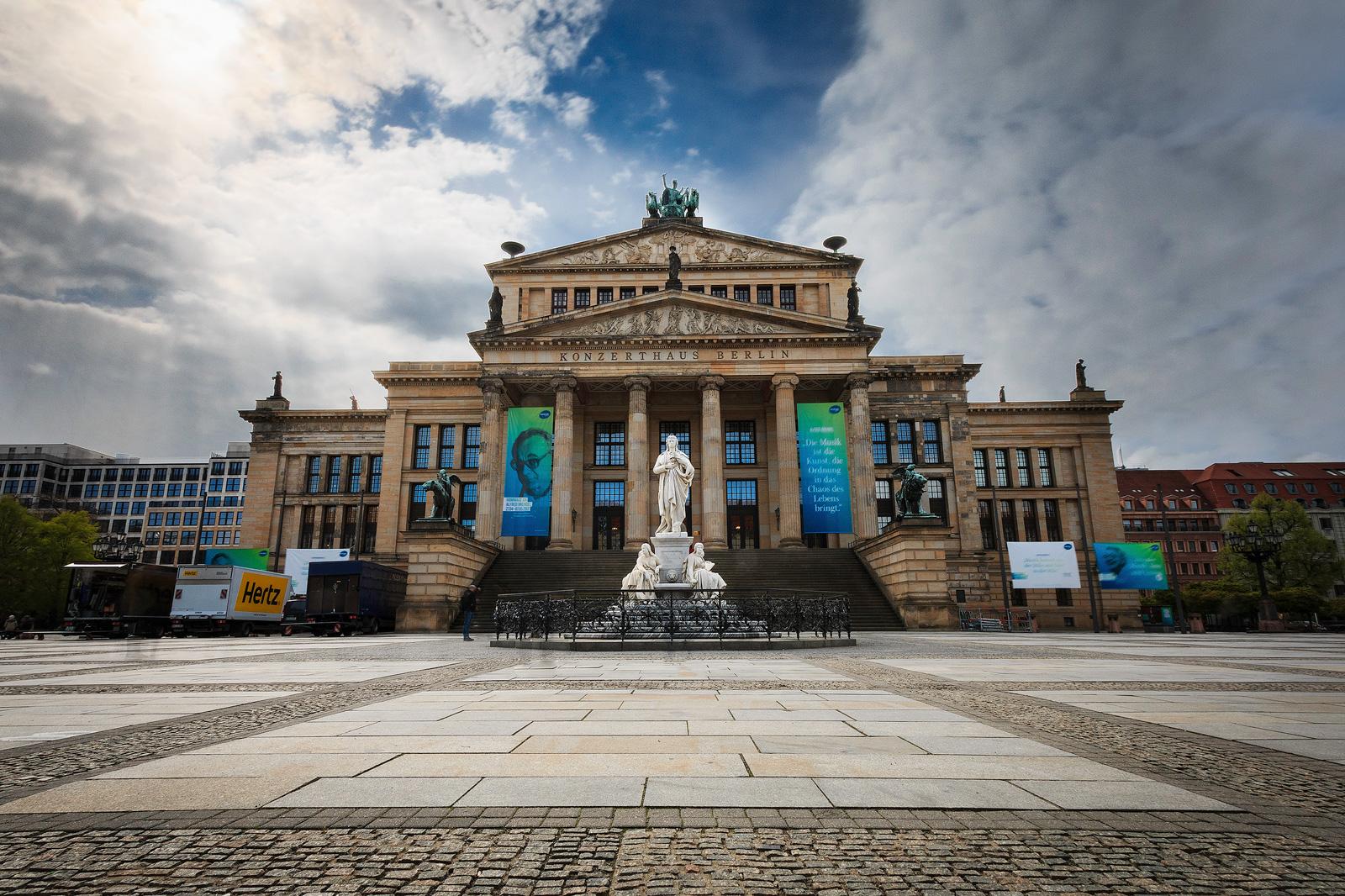 Langzeitbelichtung am Konzerthaus Berlin, Gendarmenmarkt