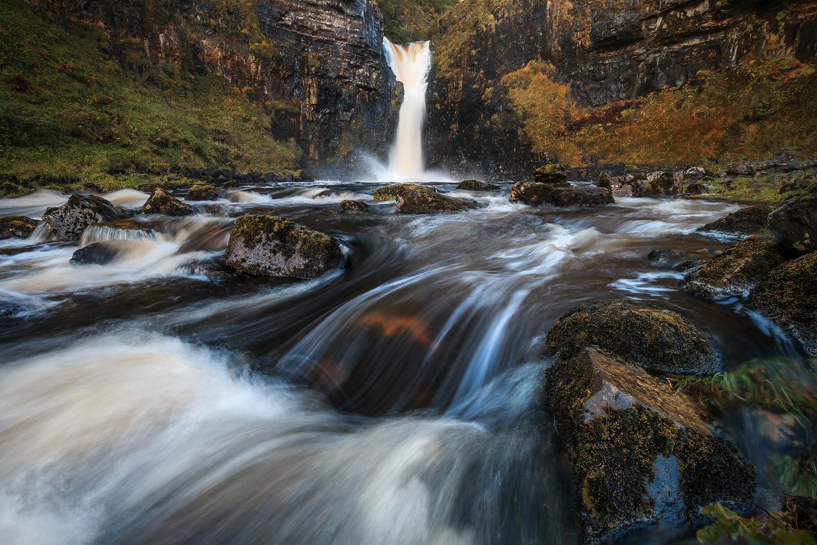 Lealt Falls auf der Isle of Skye in Schottland