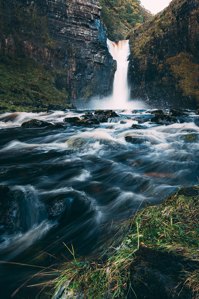 Fotospot Lealt Falls, Isle of Sky, Schottland