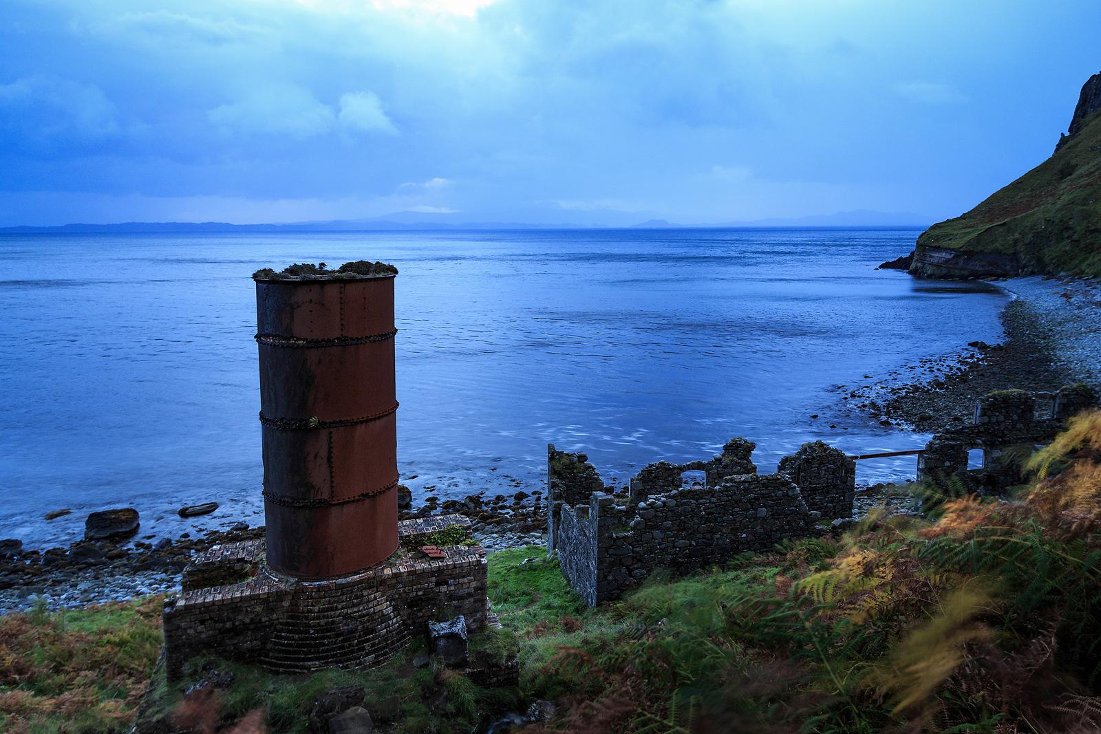 Ruine auf der Isle of Skye, Schottland
