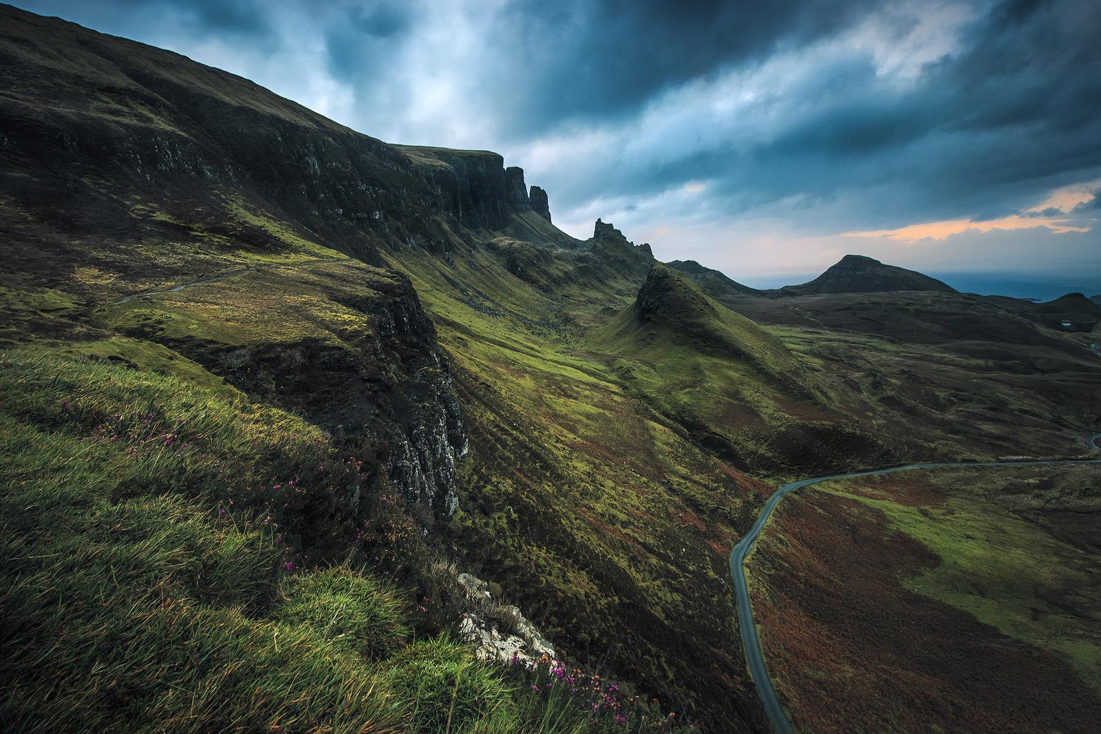 Fotospot Quiraing, Isle of Sky, Schottland,