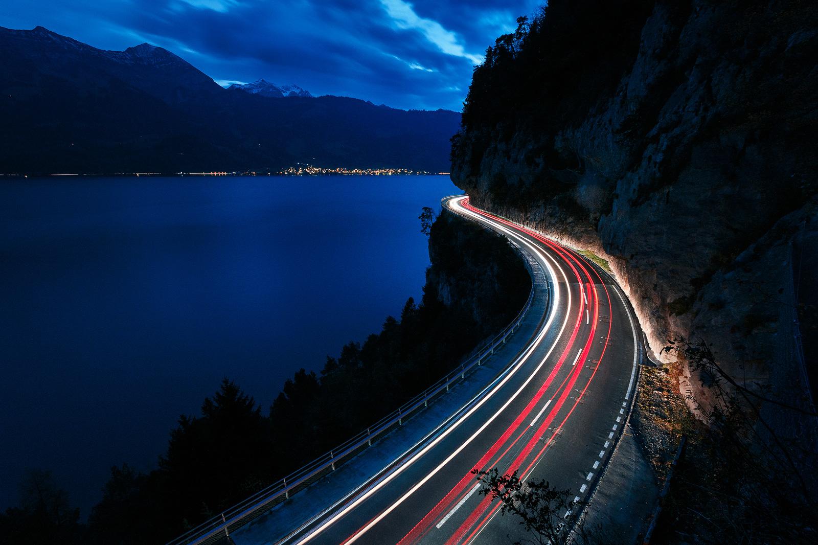 Fotospot Thunersee, perfekt um Lichtzieher zu fotografieren
