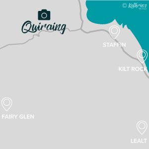Karte Fotospot Quiraing, Isle of Sky, Schottland, kathrinsworld, Kathrin's World