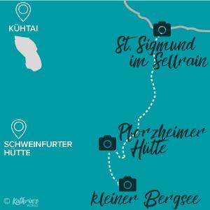 Karte Wanderung Pforzheimer Hütte, Gleirschtal, Tirol, Österreich, kathrinsworld, Kathrin's World