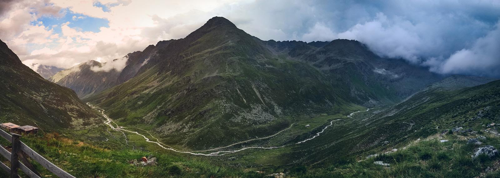Blick übers Gleirschtal, Tirol, Österreich