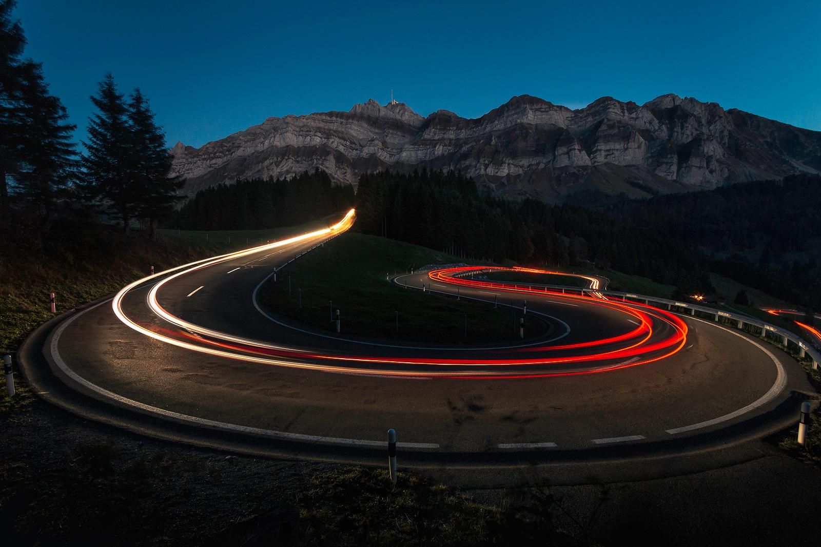 Jahresrückblick Oktober 2018: Light trails in der Schweiz