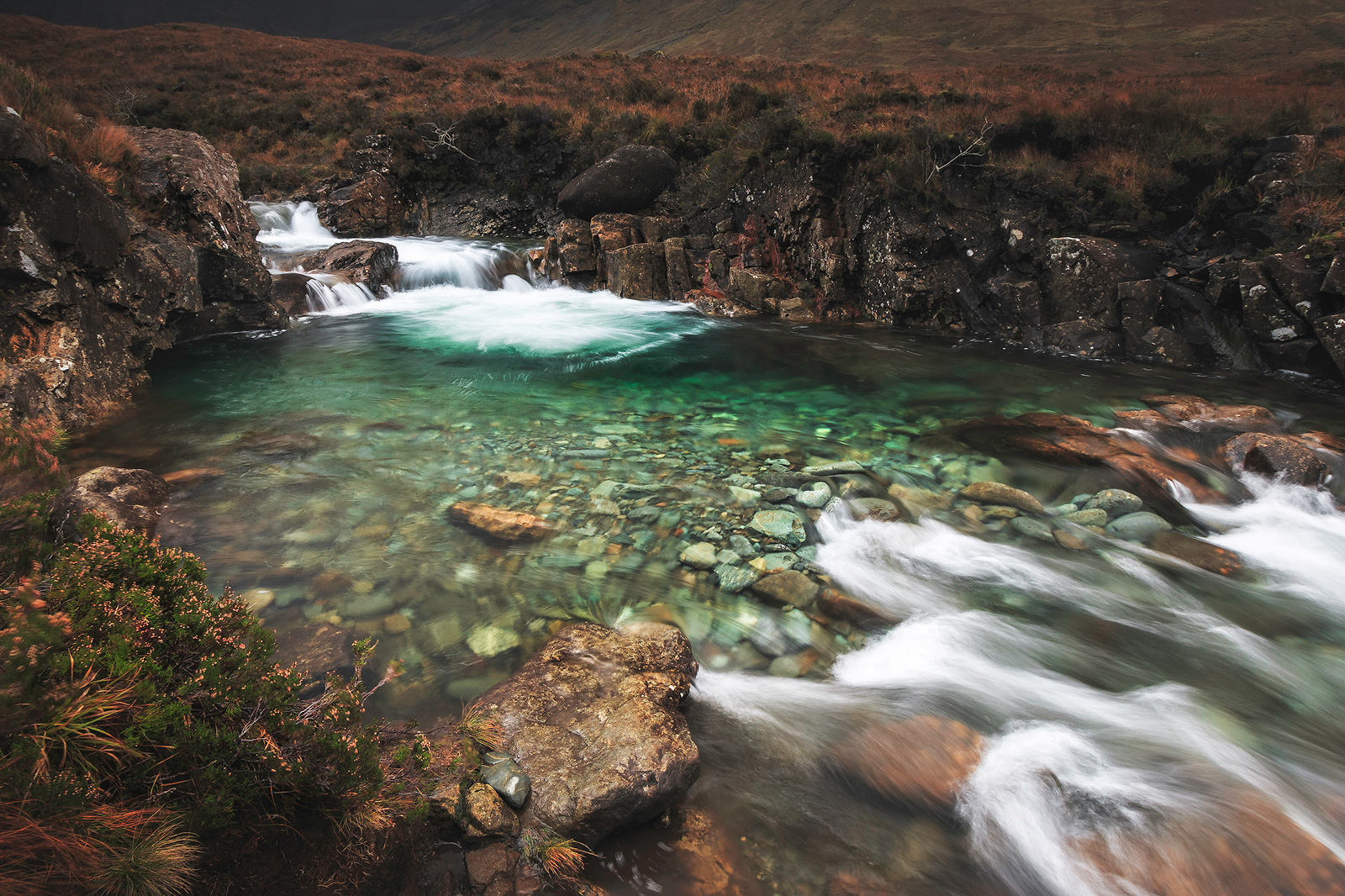 Langzeitbelichtung an den Fairy Pools