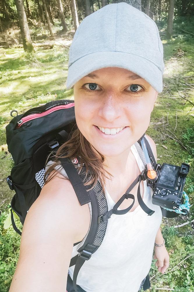 Selfie Kathrinsworld, Kathrin's World, Kathrin Schlott, wandern macht glücklich