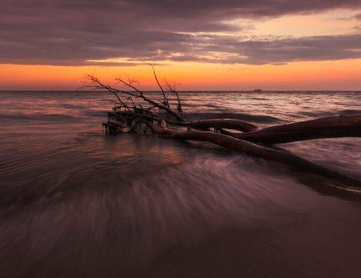 Fotospot Weststrand, Sonnenuntergang an der Ostsee