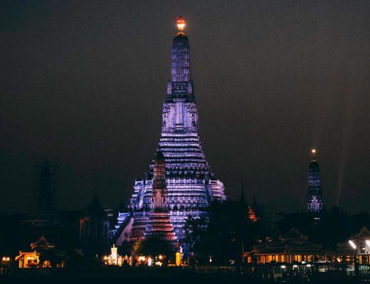 Fotospot Wat Arun in Bangkok bei Nacht