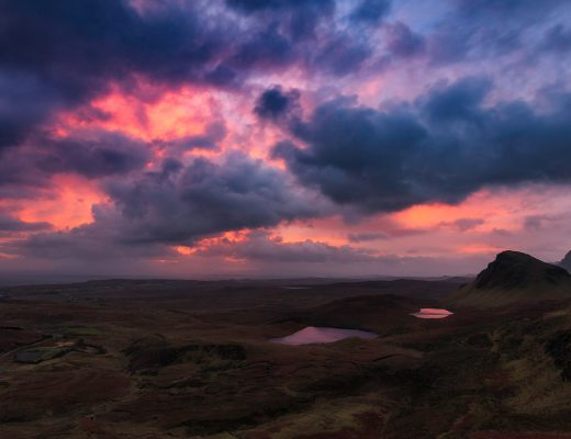 Sonnenaufgang am Quiraing, Isle of Skye