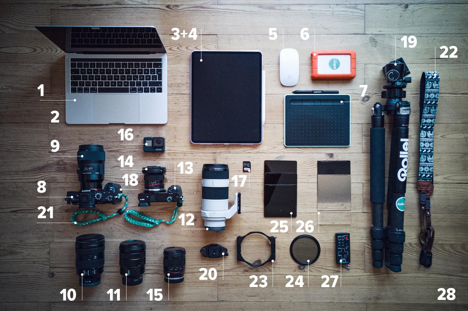 kathrinsworld Ausrüstung für Blog, Fotografie, Bildbearbeitung Sony, Kameras, Stativ, Rollei,