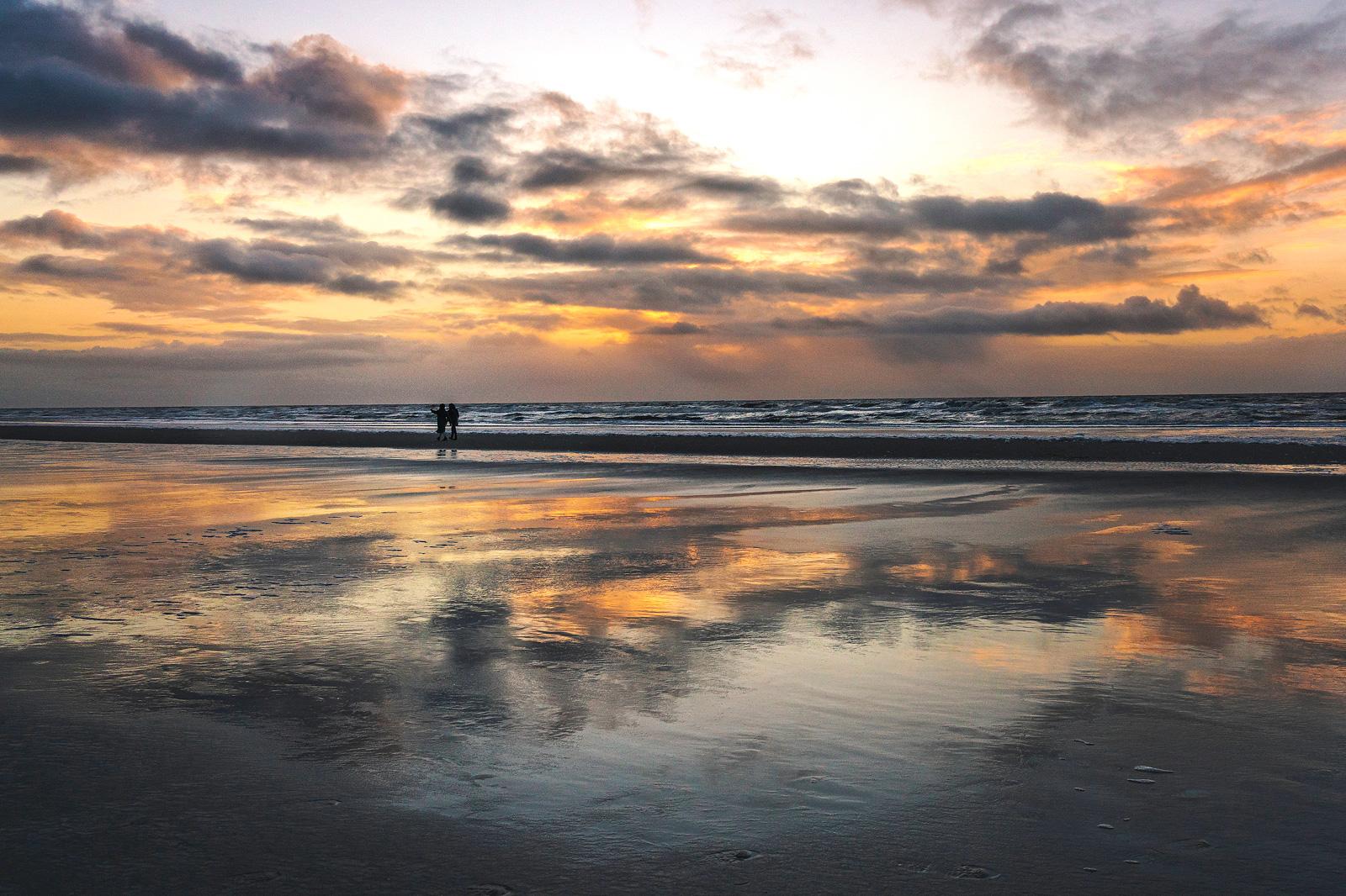 Jahresrückblick, Sankt Peter-Ording, Sonnenuntergang