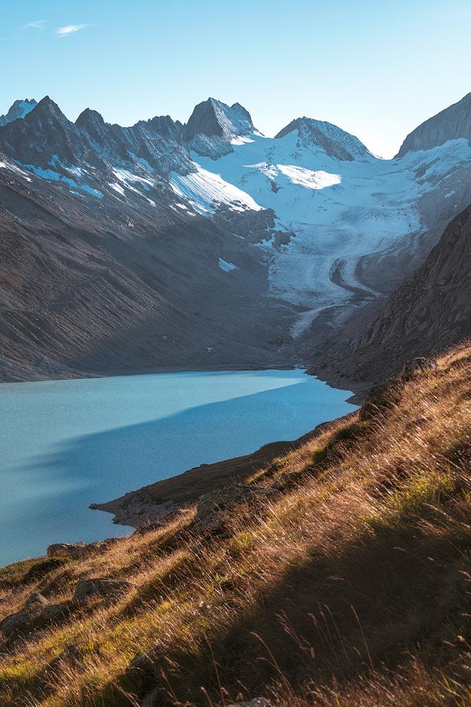 Oberaargletscher mit Oberaarsee, Wallis, Schweiz