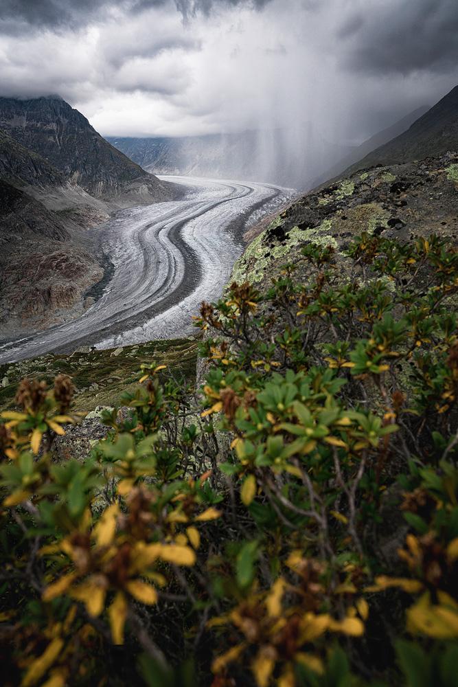 Aletschgletscher, größter Gletscher der Alpen