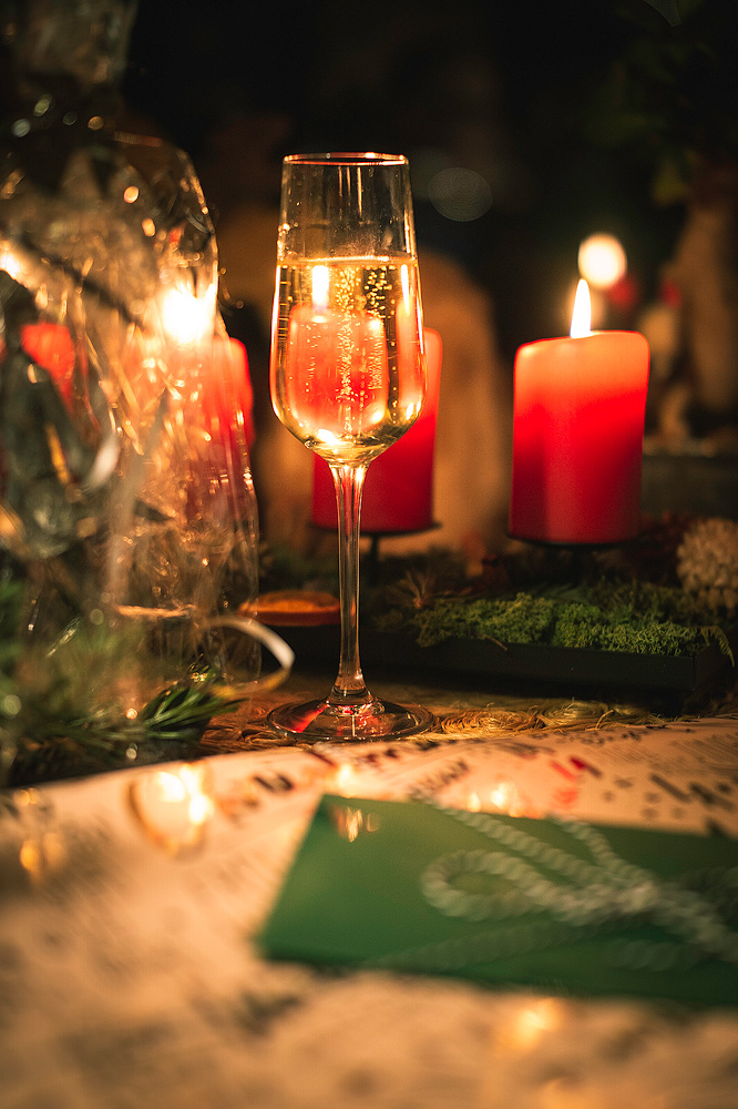 Sektglas, Advent, Weihnachten